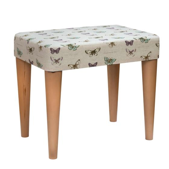 Stuart Jones RSPB Eton dressing table stool, butterflies product photo Default L