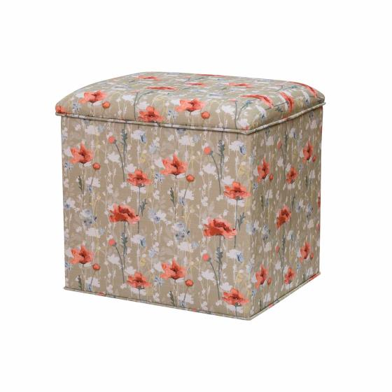 Stuart Jones RSPB Grosvenor ottoman, poppies product photo Default L