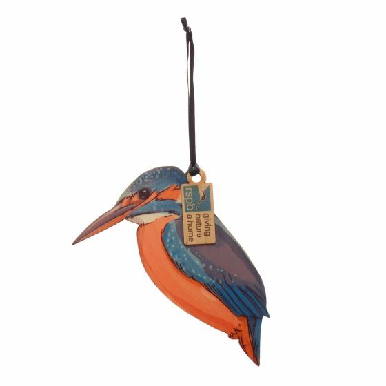 Wooden kingfisher hanging decoration product photo Default L