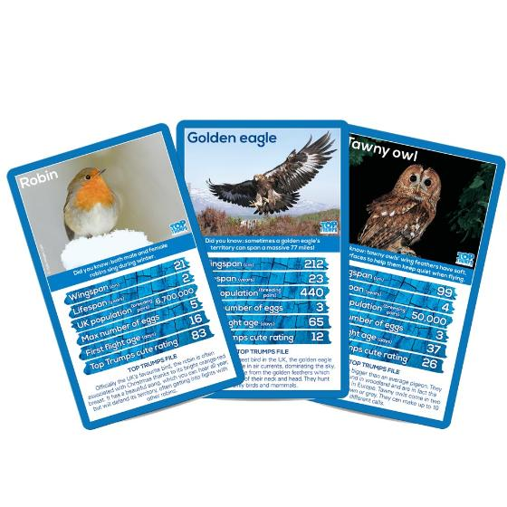 RSPB British Birds Top Trumps product photo Front View - additional image 1 L