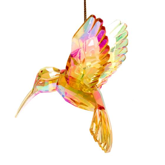 Hummingbird tree decoration, amber product photo Side View -  - additional image 3 L