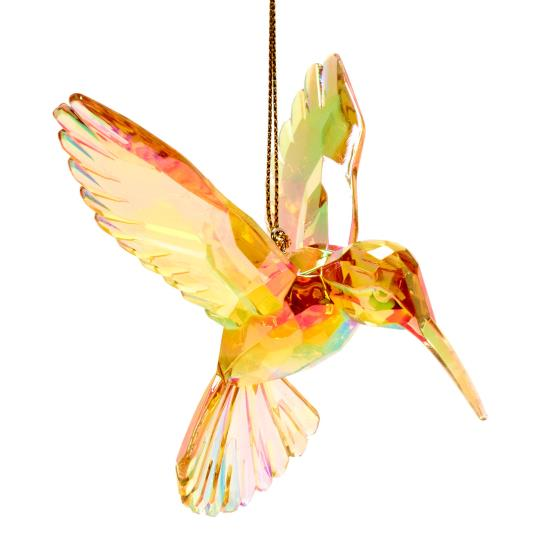 Hummingbird tree decoration, amber product photo Back View -  - additional image 2 L