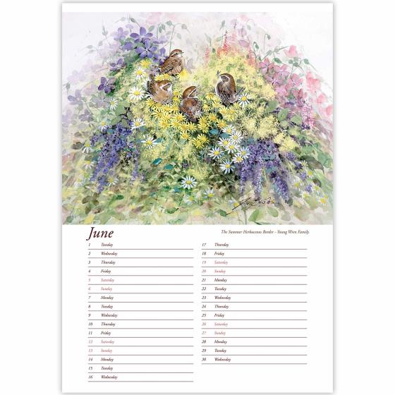 Artists Studio wall calendar 2021 product photo Back View -  - additional image 2 L