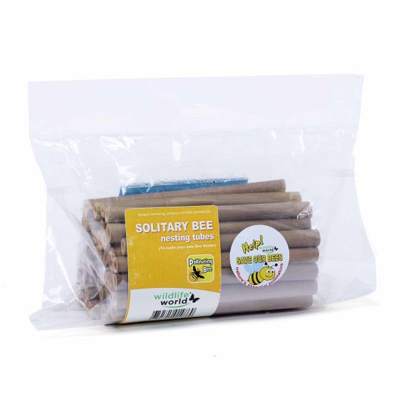 Bamboo bee tubes (50 pack) product photo Front View - additional image 1 L