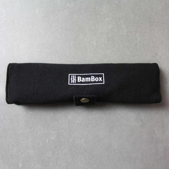 Bamboo cutlery pouch product photo Side View -  - additional image 3 L