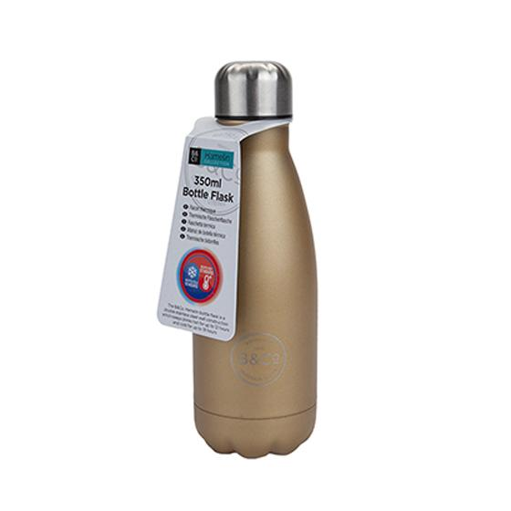 B&Co 350ml reusable bottle, metallic gold product photo Default L