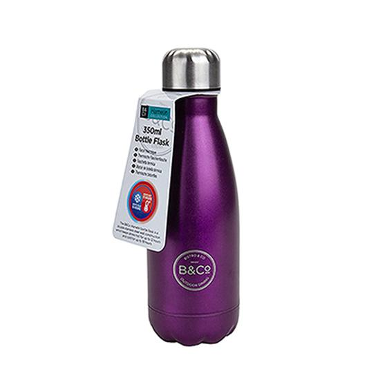 B&Co 350ml reusable bottle, metallic purple product photo Default L