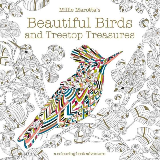 Beautiful birds and treetop treasures colouring book adventure, Millie Marotta product photo Default L