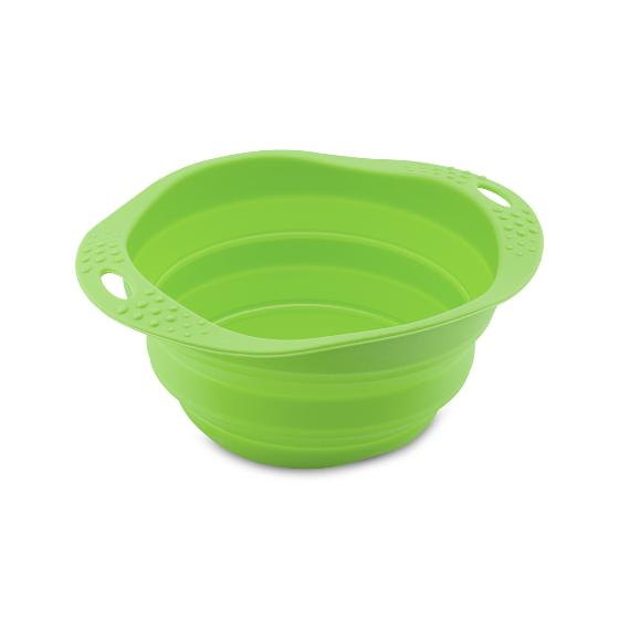 Dog travel bowl - collapsible silicone product photo Default L