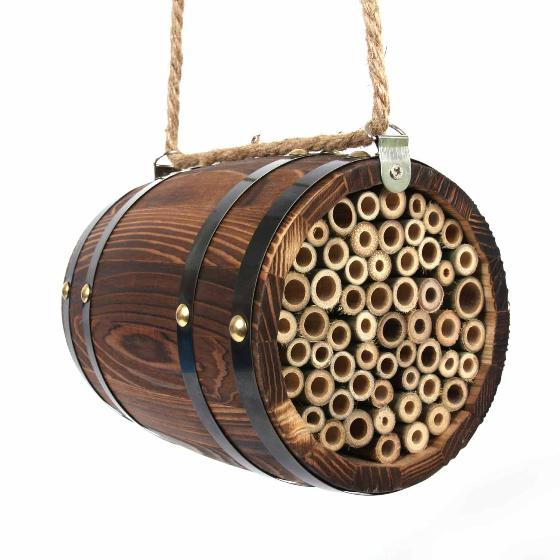 Solitary bee home barrel product photo