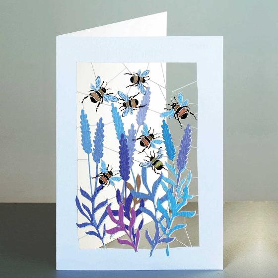 Bee laser cut card product photo Default L