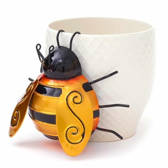 Bee metal pot hanger ornament product photo Default L
