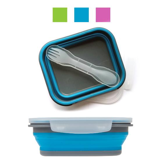 Bento collapsible lunchbox with cutlery product photo Default L