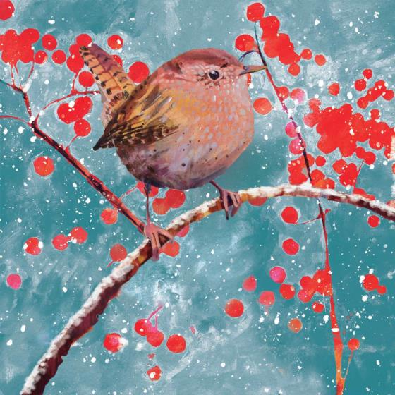 Berry Christmas RSPB charity Christmas cards - 10 pack product photo Default L