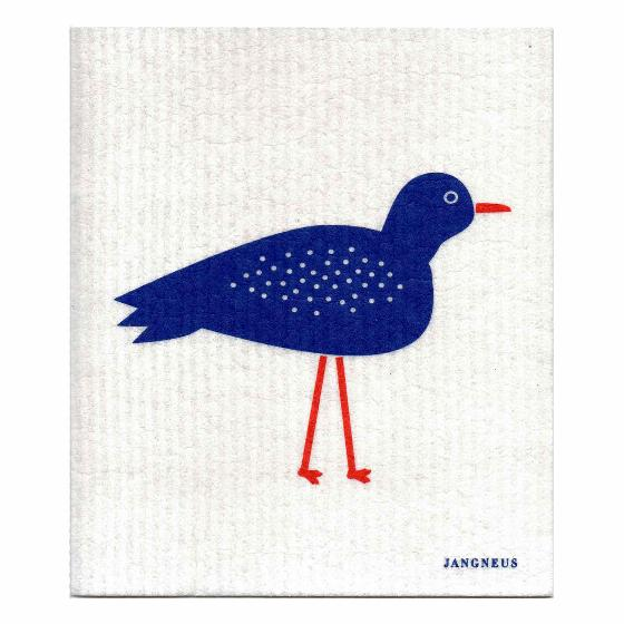 Swedish dishcloth, blue bird design product photo Default L