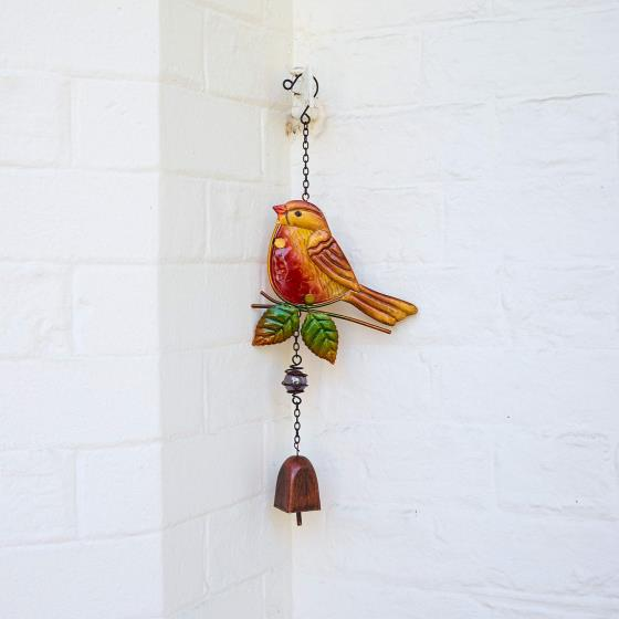Wind chime robin product photo Front View - additional image 1 L