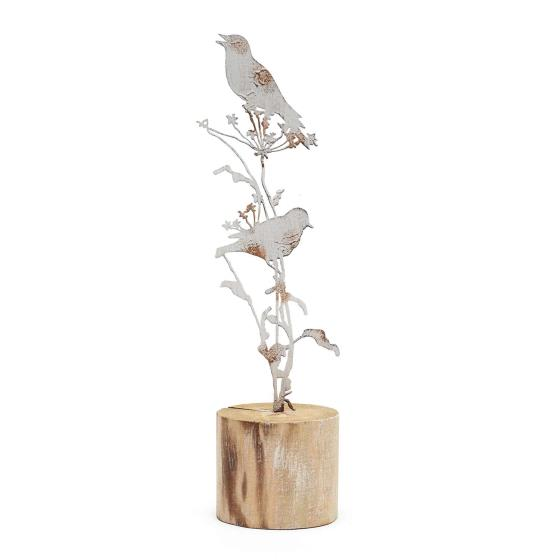 Birds & wildflowers metal wooden decoration product photo Default L