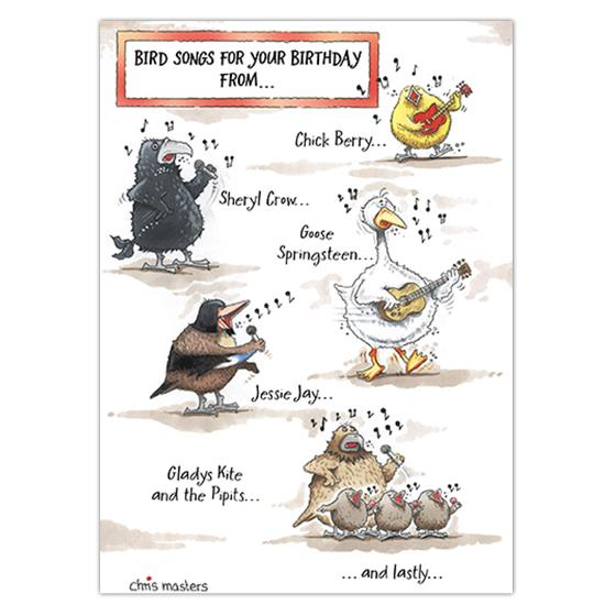 Birdsongs birthday card product photo
