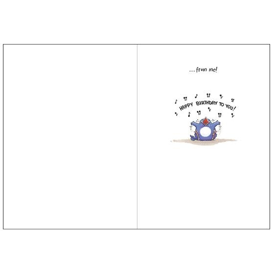 Birdsongs birthday card product photo Side View -  - additional image 3 L