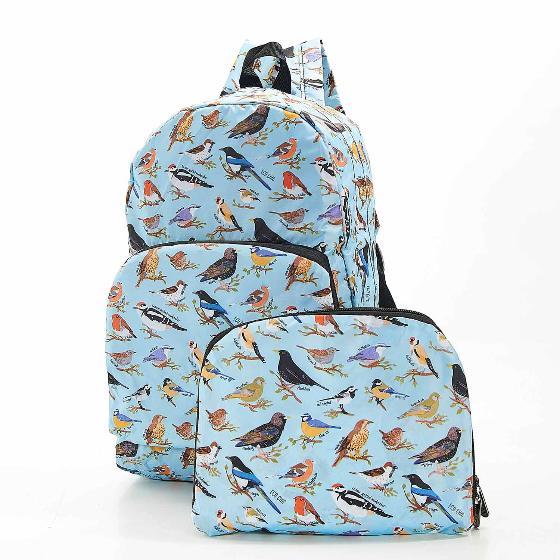 Foldaway backpack, garden birds design product photo