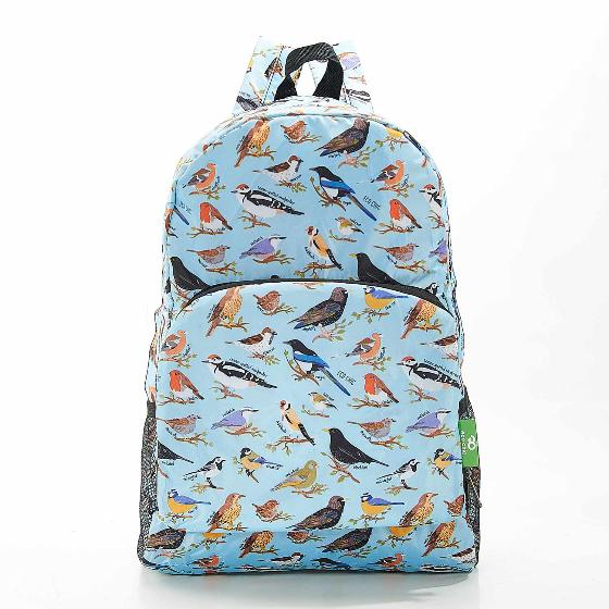 Foldaway backpack, garden birds design product photo Side View -  - additional image 3 L