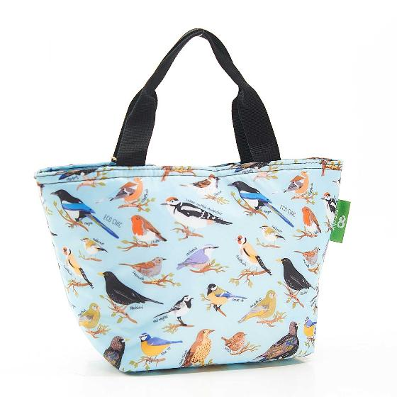 Cool bag, garden birds design product photo Back View -  - additional image 2 L