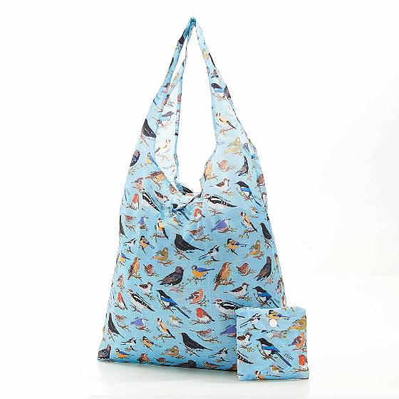 Foldaway shopping bag, garden birds design product photo