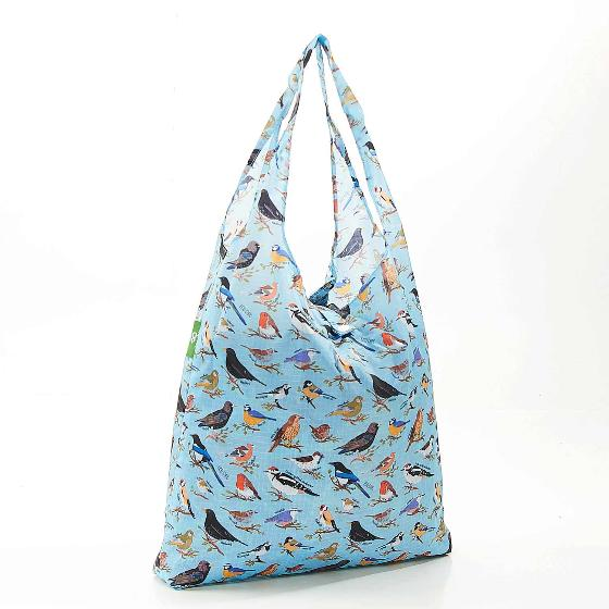 Foldaway shopping bag, garden birds design product photo Back View -  - additional image 2 L