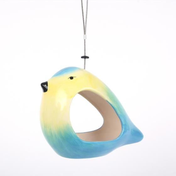 Ceramic bird feeder - Blue tit product photo Front View - additional image 1 L