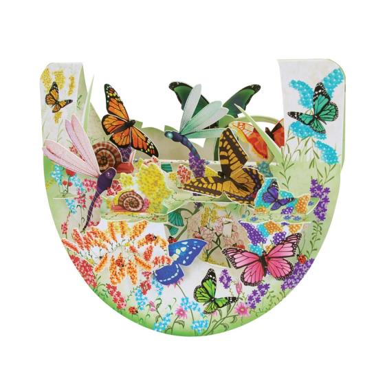 Butterfly garden 3D card product photo Default L