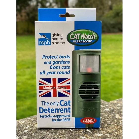 CATwatch cat deterrent with mains adaptor product photo Back View -  - additional image 2 L
