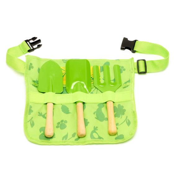 Children's gardening tools belt set product photo Front View - additional image 1 L