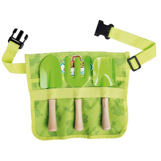 Children's gardening tools belt set product photo Back View -  - additional image 2 L