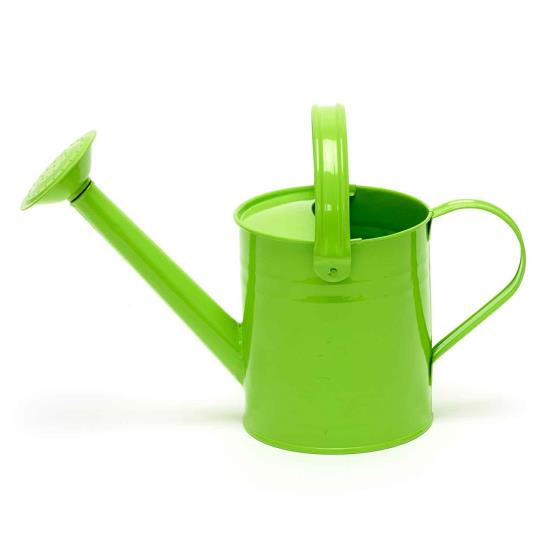 Metal watering can for children product photo Front View - additional image 1 L