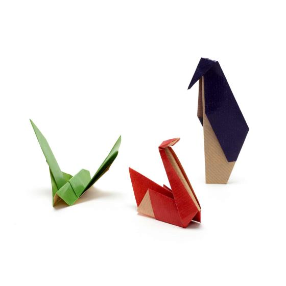 Christmas chorus origami recycled crackers, box of 6 product photo Back View -  - additional image 2 L