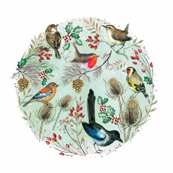 Christmas chorus RSPB charity Christmas cards - 10 pack product photo Default L