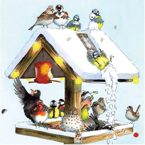 Christmas table RSPB charity Christmas cards - 10 pack product photo Default L