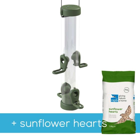 Classic easy-clean medium seed feeder with 1.8kg sunflower hearts product photo