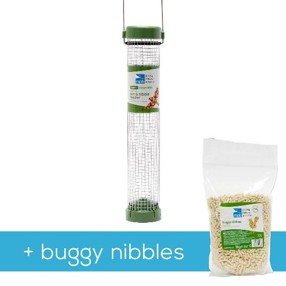 Classic easy-clean nut & nibble medium feeder with 1kg buggy nibbles product photo Default L