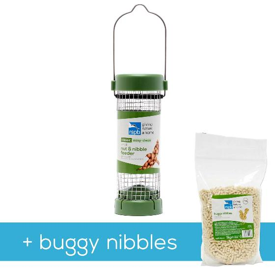 Classic easy-clean small nut & nibble feeder with 1kg buggy nibbles product photo Default L