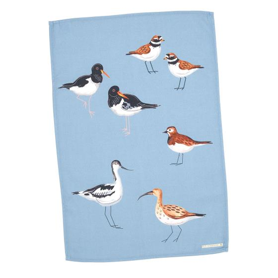 Coastal birds tea towel - seabirds blue product photo Default L