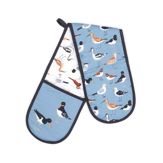 Coastal oven glove with seabirds and waders product photo