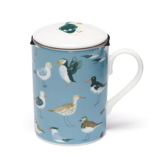 Coastal seabirds infuser mug product photo Front View - additional image 1 L