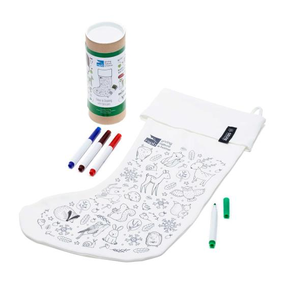 Colour-in Christmas stocking product photo Side View -  - additional image 3 L