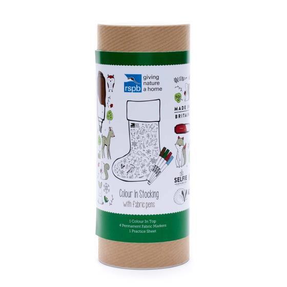 Colour-in Christmas stocking product photo Back View -  - additional image 2 L