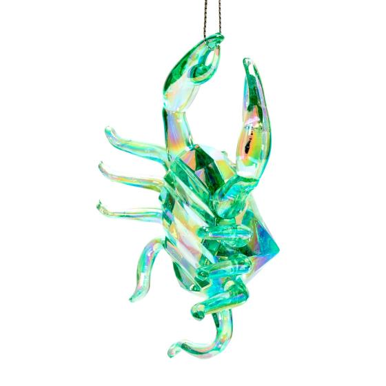 Crab tree decoration, green product photo Side View -  - additional image 3 L