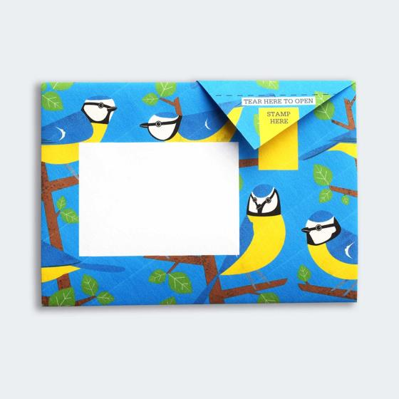 Eco-friendly stationery - 6 pack of Dawn chorus Pigeon letter papers product photo Back View -  - additional image 2 L