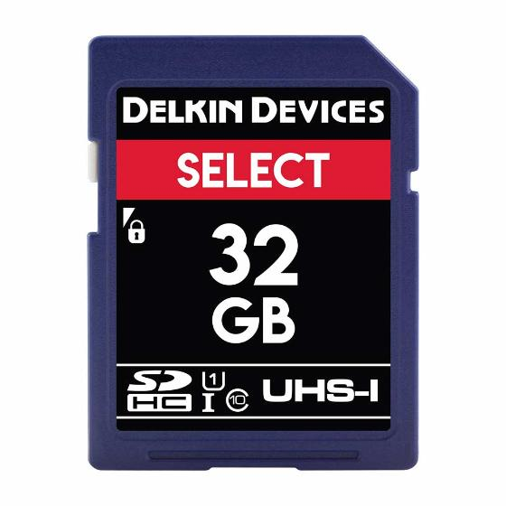 Delkin 32GB SD card product photo Default L