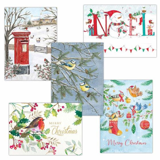 Fab forty RSPB charity Christmas cards - 40 pack product photo Front View - additional image 1 L