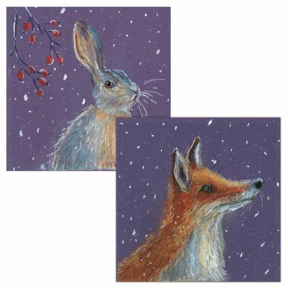 First snow RSPB charity Christmas cards - 10 pack product photo